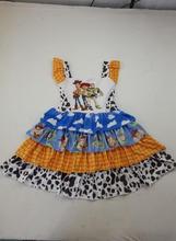 Adorable cartoon party girl toy story dress smoke ruffles dresses