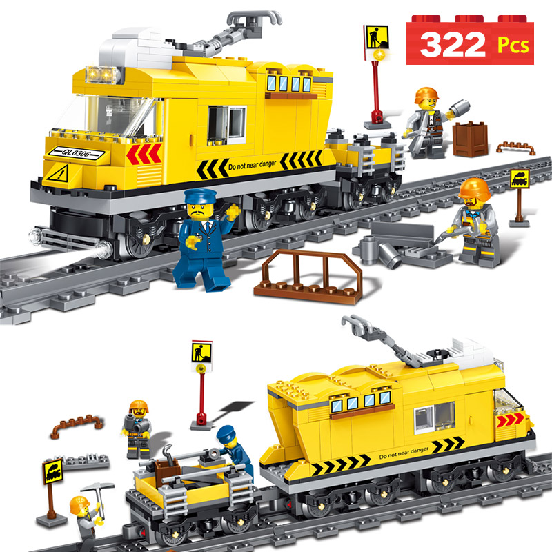 Qunlong Train Track Series Model Building Blocks Compatible Legoings City Gallop Train T ...