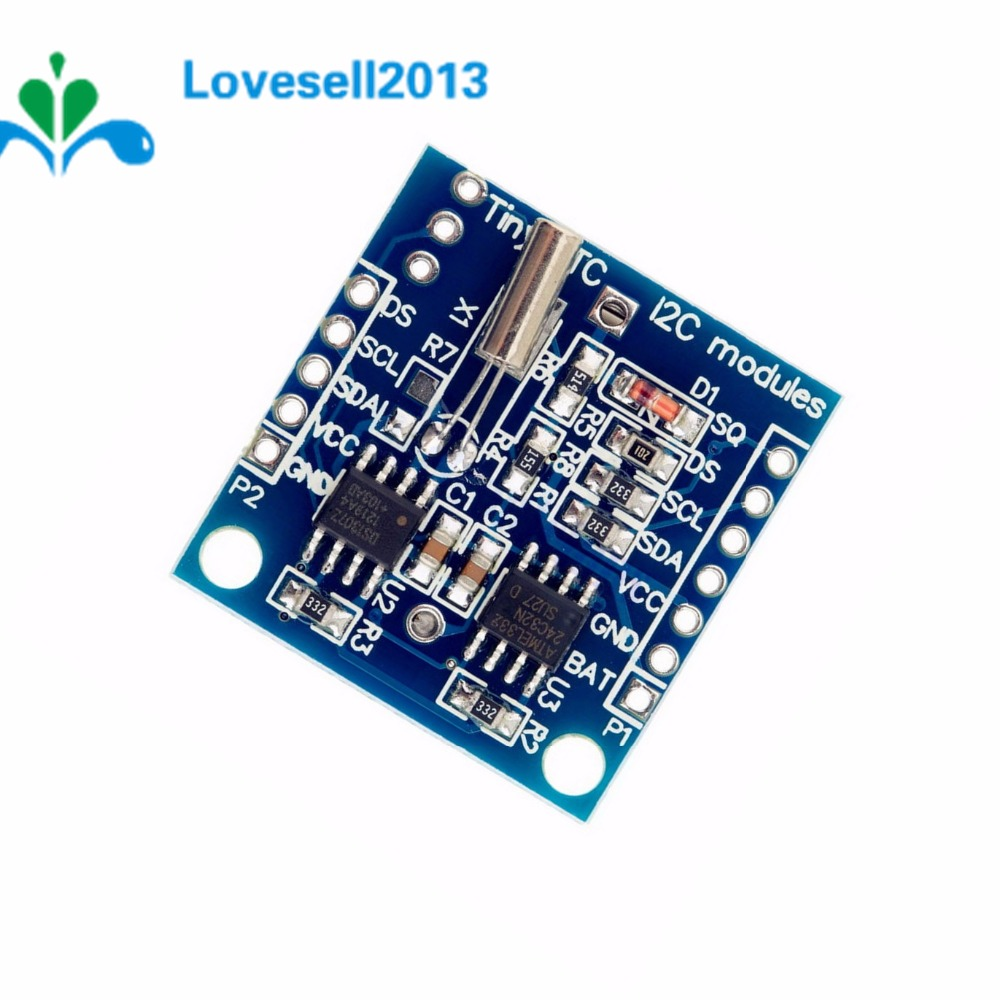 2 Pcs IIC/I2C RTC DS1307 AT24C32 Real Time Clock Module For Arduino 51 AVR ARM PIC 2.9*2.6cm