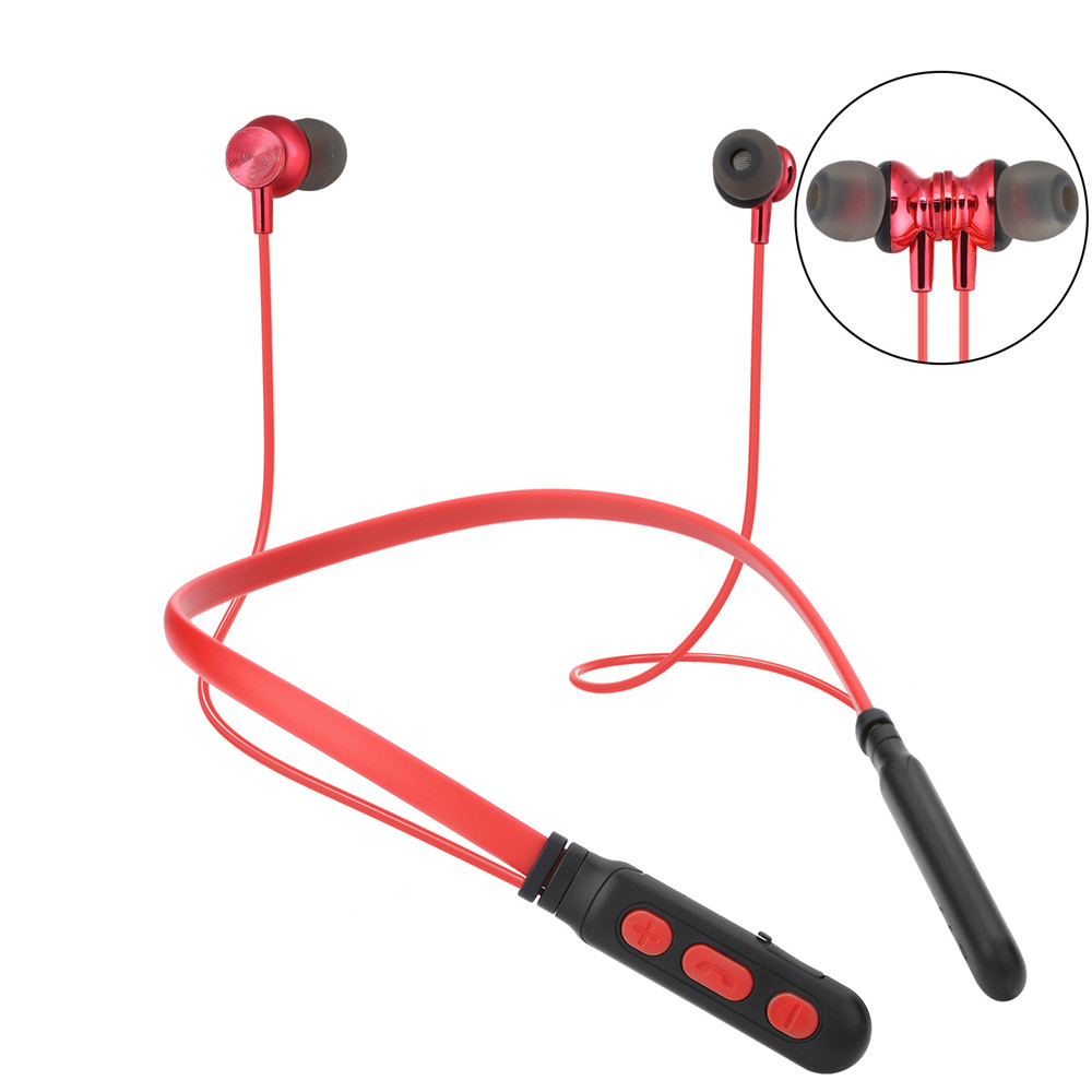 BT M8 Wireless Headphone Sport Bluetooth Earphone Neckband Magnetic Bass Headset Handfree Earbuds With Mic For Xiaomi Huawei