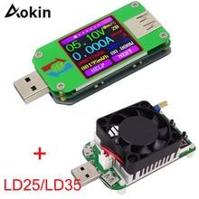 Вольтметр Амперметр Для APP USB 2,0 ЖК-дисплей батарея зарядное напряжение измеритель тока мультиметр кабель измерительный тестер