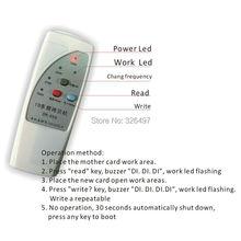 Free shipping 4 frequency EM4100/TK4100 RFID Copier/ Duplicator/ Cloner ID EM reader & writer+ T5557/EM4305 writable keyfob