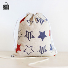 Stars printed 100% cotton bag Travel Accessories Clothes underwear shoes kids toy Storage Pouch Luggage Packing Organizers