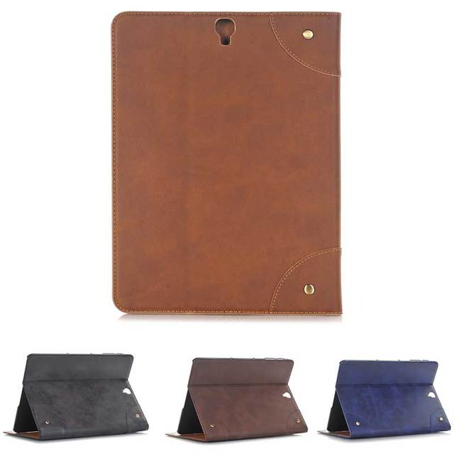 New retro book leather case for samsung galaxy tab s3 97 new retro book leather case for samsung galaxy tab s3 97 business card smart cover reheart Image collections