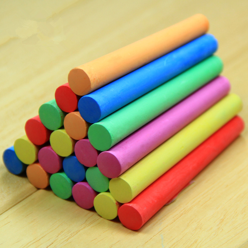 10pcs/pack Korea Colorful Chalk Dust-free Chalk Non-toxic Chalk