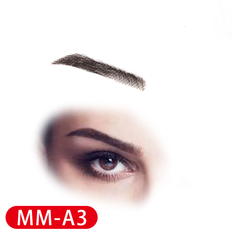 Fake Eyebrows 4d Hair Like Eyebrows Long-lasting Waterproof Transparnt Handmade Real 100% Human Hair Eyebrows Lace Eyebrow Wig
