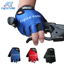 CYCLE ZONE Half Finger motorcycle&bike Cycling Gloves breathable Sports Nylon Mountain Bicycle Gloves Anti-skid shock absorption