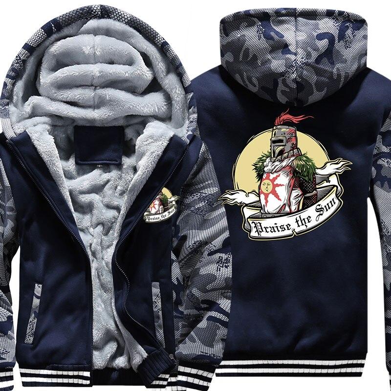 Free Shipping New USA Size Men Hoody Praise The Sun Zipper Thicken Fleece Hoodies Coat Clothing Costom Made Jacket
