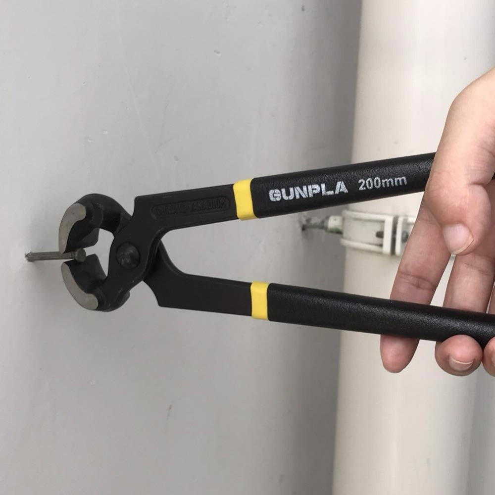 "Купить с кэшбэком High Quality 200MM 8"" Claw Carpenters Pincer Cutting Pliers Nail Puller Heavy-Duty Hand Pliers"