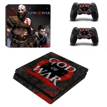 God of War 4 PS4 Slim Skin Sticker Decal Vinyl for Sony Playstation 4 Console and 2 Controllers PS4 Slim Skin Sticker