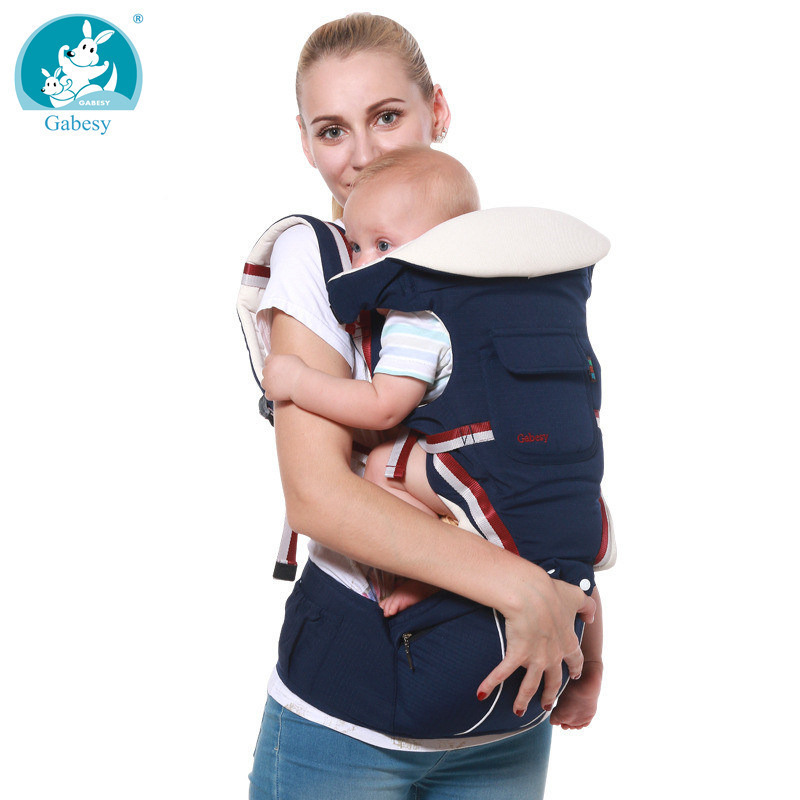 luxury 9 in 1 Baby Carrier Ergonomic Carrier Backpack Hipseat for newborn and prevent o-type legs sling Baby Kangaroos new born(China)