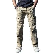 Cncool мужские военные брюки карго Твердые Хаки дышащие летние большие размеры мульти карман длинные брюки горячие сплайсированные Pantalon Homme