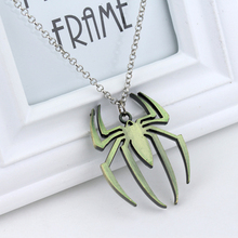 Hot Sale Super Hero Spiderman statement Necklace Spider Shape Pendant Metal Necklaces Fashion Movie Jewelry choker necklace