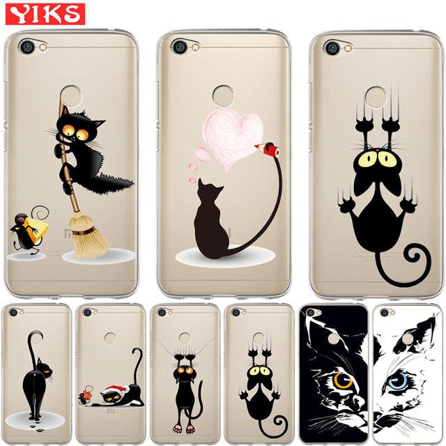 26949a6b48 Coque for Xiaomi Mi A1 5X Redmi Note 3 3S 4 Pro 4X 4A 5A Prime 5 Plus Case  Cute Animal Cat Pattern Soft Silicone TPU Back Cover