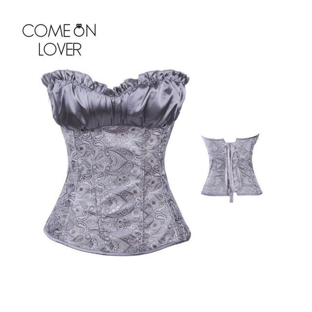 AI2931 Comeonlover Cupless Underbust Plus Size Mulheres Roupas Steampunk Gótico do Espartilho Cintura Shaper do Espartilho Venda Quente do Espartilho Das Mulheres