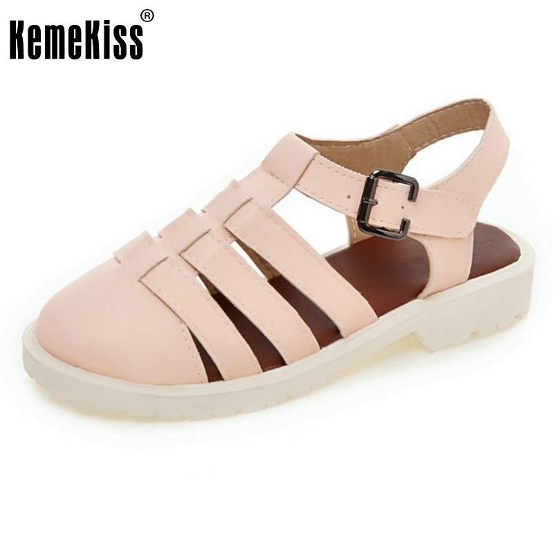 Women Flats Sandals Brand Sexy Fashion Gladiator Ladies Buckle Student Vintage Sandal Footwear Leisure Shoes Size 34-43 PA00721 women flat sandals fashion ladies pointed toe flats shoes womens high quality ankle strap shoes leisure shoes size 34 43 pa00290