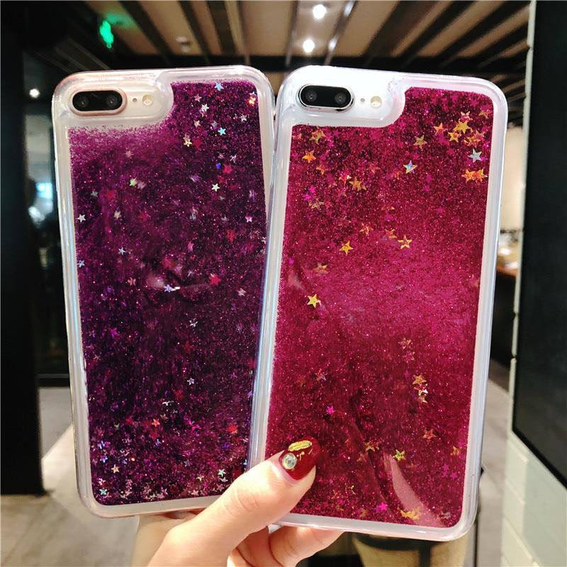 Liquid Glitter Quicksand Case For iphone 7 Plus 6 6s 8 X LG Stylo 3 2017  LS775 4 Plus Aristo 2 X210 K10 2018 Cover Phone Cases
