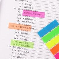 6 комп. самоклеющиеся люминесцентные блокнот Lip милый карамельный цвет заметок пост-это грустно точка он маркер наклейки ученый