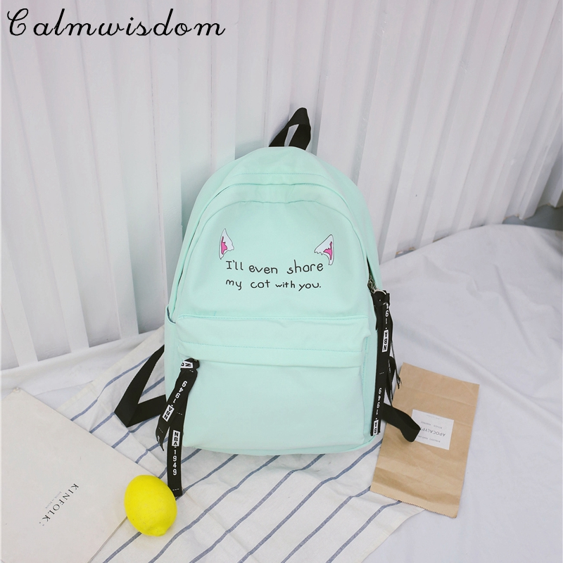 Calmwisdom Women Cute Backpack for Teenagers Back Pack Kawaii Girls Print Backpacks School Teenage Shoulder Bags School Bag ...