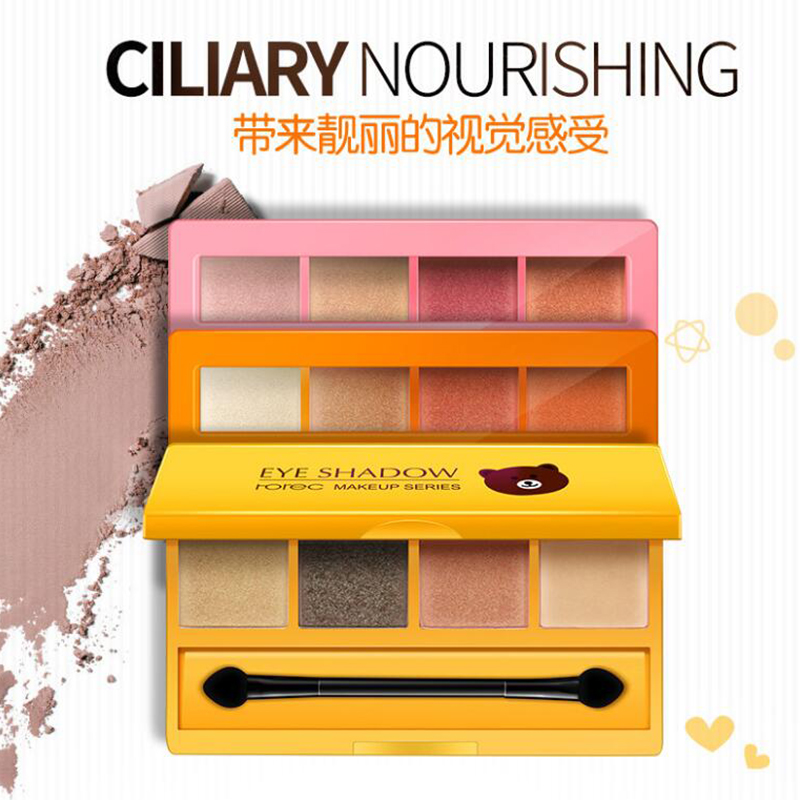 3 Type Matte Shimmer Shining Eyeshadow Palette 4 Colors Makeup Glitter Pigment Smoky Eye Shadow Powder Waterproof Cosmetic kit image