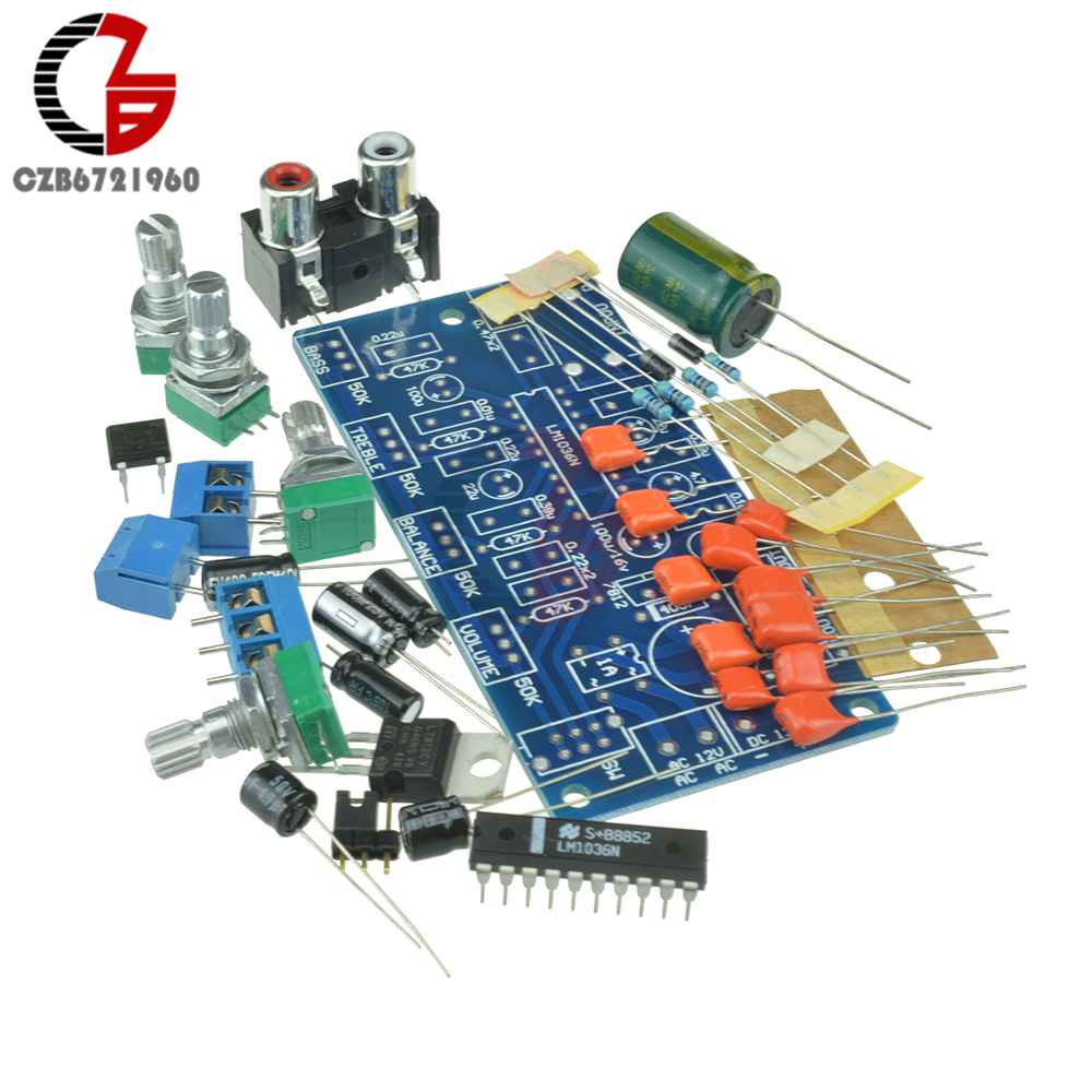 Lm1036n Lm1036 Dip 20 Dual Channel Dc Control Volume Balance Circuit Stereo Pre Amplifier Tone Based Tda1524a Fever Board Kit For 12v Ac Power Supply Diy Gm