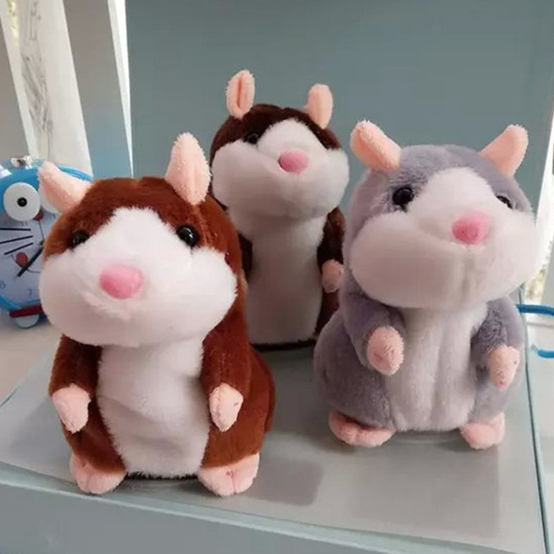 1 Pc Talking Hamster Mouse Pet Plush Toy Sound Record Hamster Educational Toy For Children Gift Cute Speaking Battery Excluded