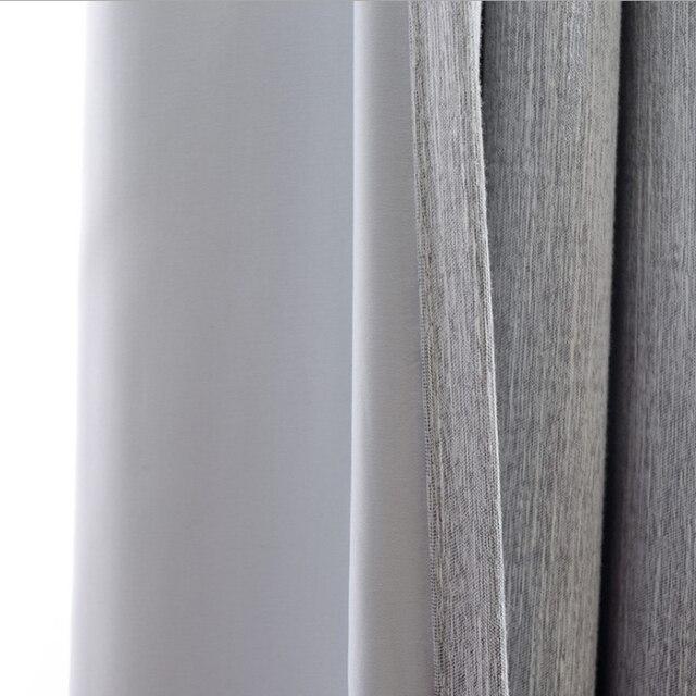 thermische gesoleerde verduisteringsgordijnen effen kleuren katoen gordijnen haken top window shades moderne slaapkamer decoraties fringe gordijn