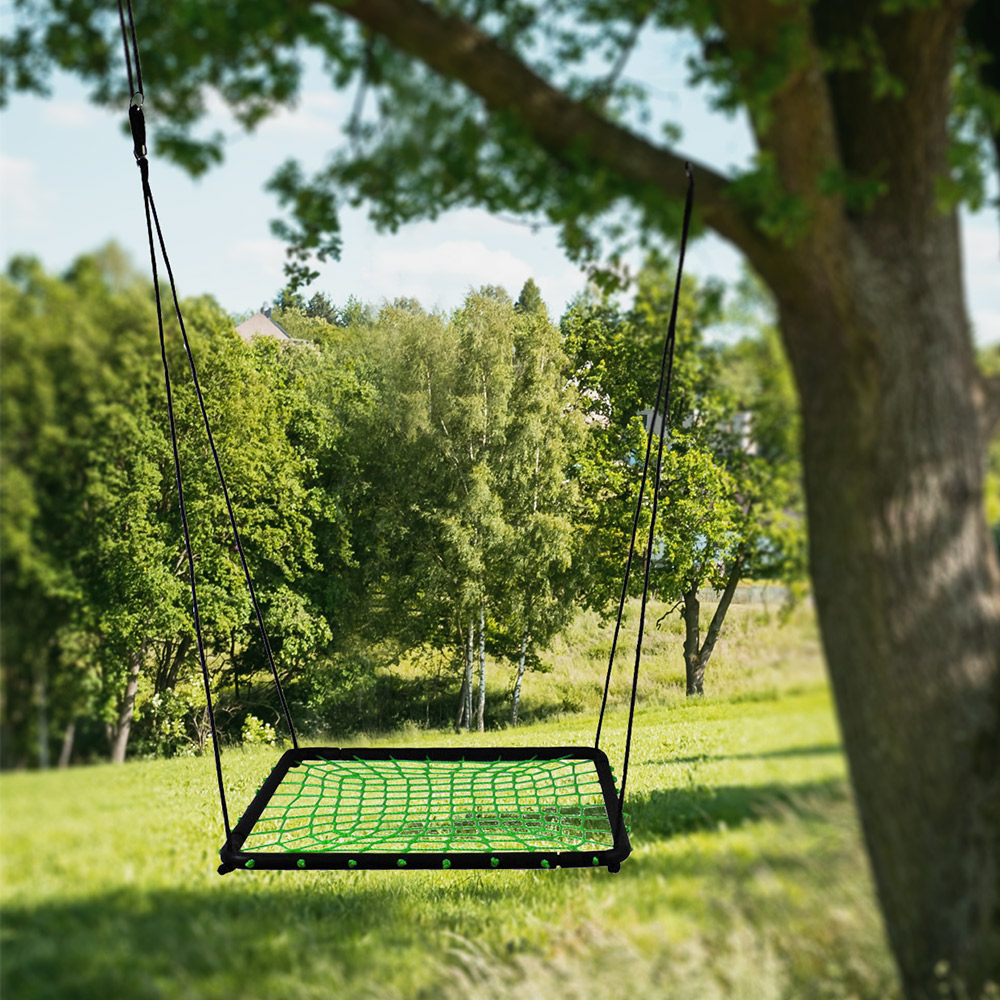 Baby Rope Swing Square Nest Swing For Garden and Backyard Swings For Children Adults Rocking Chair Tree Swing Rocker 90*90cm