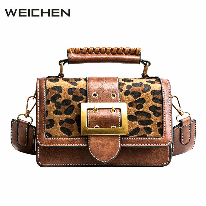 Leopard Brown Shoulder Bags For Women 2018 Hip-hop Suede Cross Body Bags Women Messenger Bags Small Bolsa Feminina Sac A Main 2018 women messenger bags vintage cross body shoulder purse women bag bolsa feminina handbag bags custom picture bags purse tote