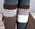 2016 Jacquard Knitted Leg Warmers Socks Boot Cover women socks women christmas socks calcetines meias meia harajuku pug christma