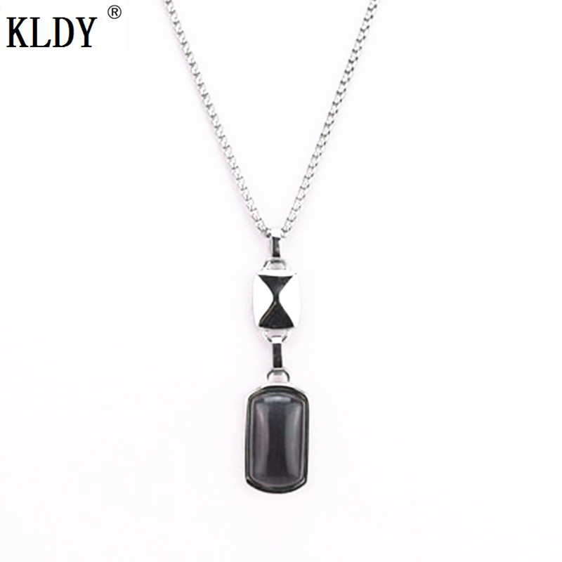 KLDY Women purple natural stone pendant necklace retro water drop woman necklace noble wedding anniversary birthday jewelry gift