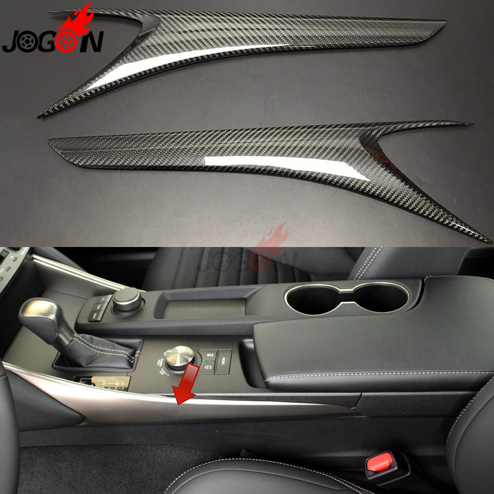 US $118 8 12% OFF|2P Carbon Fiber For LEXUS IS XE30 IS250 IS300 IS350 Turbo  2014 2019 Car Interior Gear Shift Panel Side Strip Molding Cover Trim-in