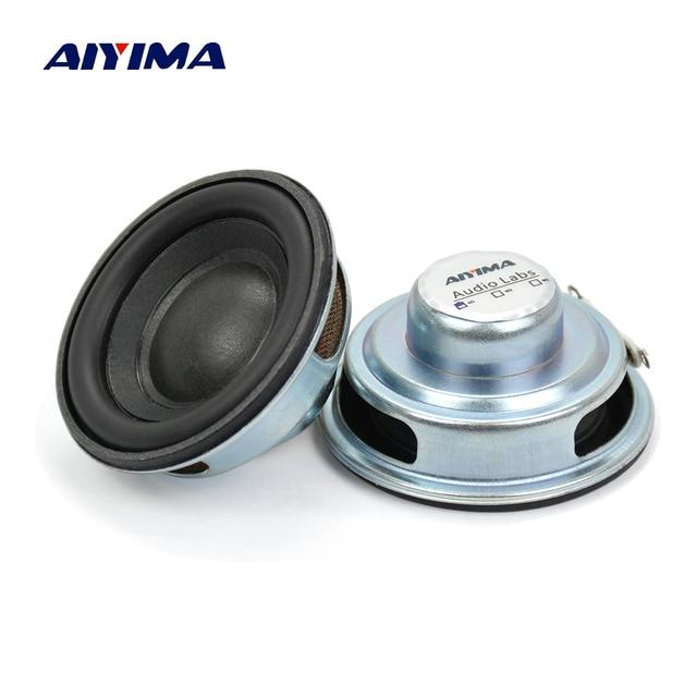AIYIMA 2 шт. мини аудио динамик s 50 мм 4 Ом 5 Вт сабвуфер Мультимедийный портативный динамик усилитель звука громкий динамик DIY