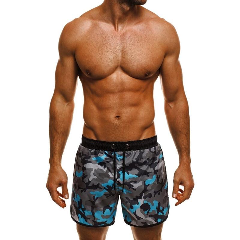 Stylish Camo Men's   Shorts     Board     Shorts   Military Floral Print Loose Fitness Joggers Drawstring Hawaii Milk Silk Vacation Beach