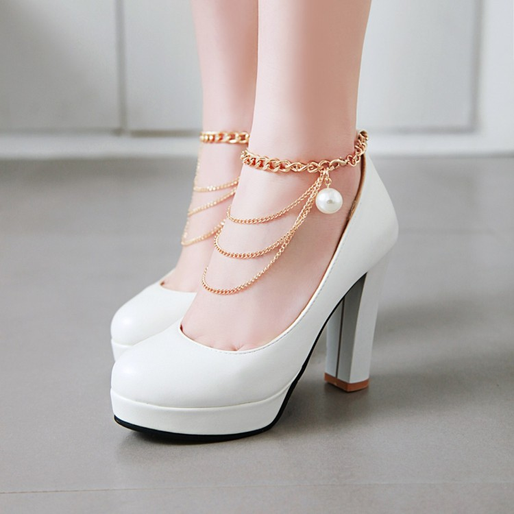 Big Size 11 12   ladies high heels women shoes woman pumps    Fashionable womens shoe white with thick heel waterproofing tableBig Size 11 12   ladies high heels women shoes woman pumps    Fashionable womens shoe white with thick heel waterproofing table