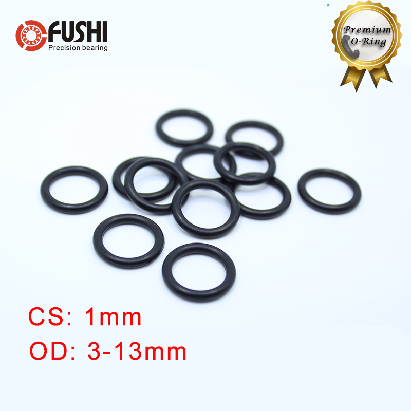CS 1mm NBR Rubber O <font><b>RING</b></font> OD <font><b>3</b></font>/4/5/6/7/7.5/8/9/10/11/12/13*1 <font><b>mm</b></font> 100PCS O-<font><b>Ring</b></font> Nitrile Gasket seal Thickness 1mm ORing image