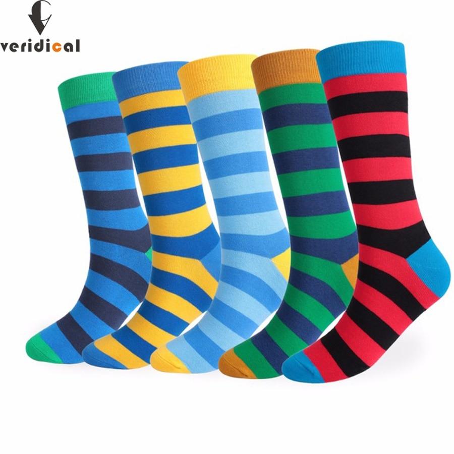 Mens color stripes socks the latest design popular mens socks 5 PAIRS STRIPED SOCKS SUIT FASHION DESIGNER COLOURED Fit EU39-48