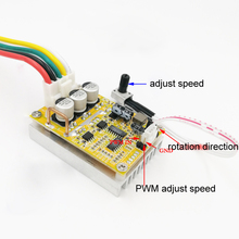 5 36V 350W BLDC Three Phase Dc Brushless Without Hall Motor Controller Sensorless Brushless Motor Driver