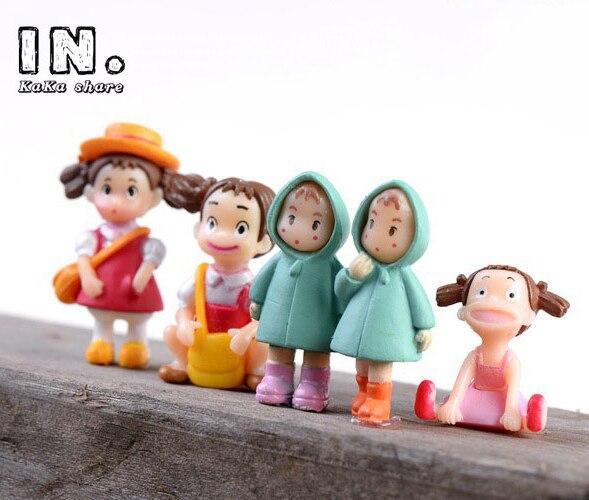 micro fairy garden miniatures landscape decoration Miyazaki Hayao Anime My Neighbor Totoro pack May Ornament toy DIY accessories