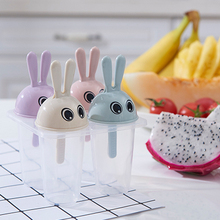 Double row lid small white rabbit style DIY ice cream mold 11*13cm Free shipping