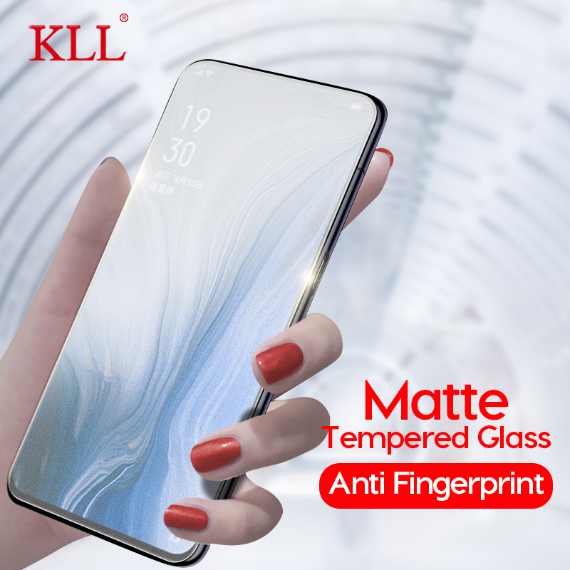 No Fingerprint Frosted Matte Tempered Glass For OPPO Reno Z 10x Zoom K3 A9x A1k Screen Protector For OPPO Realme 3 Pro X Lite C2