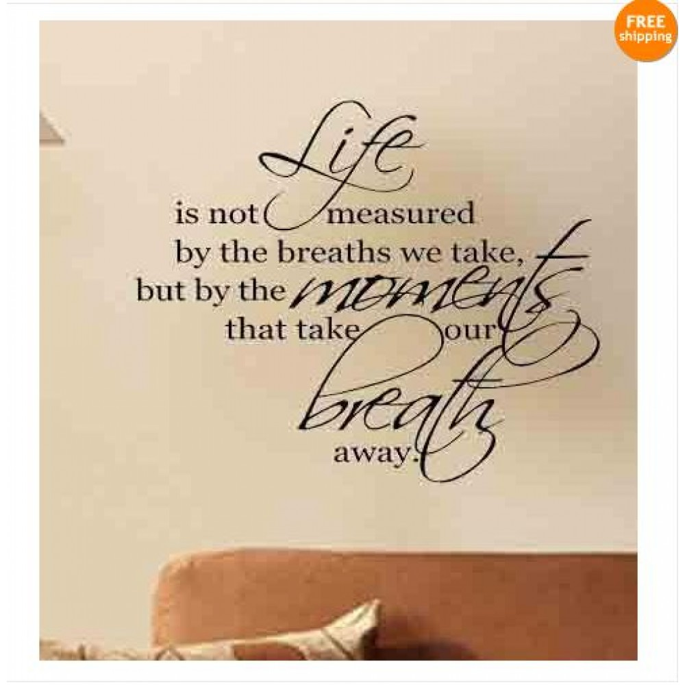 Life Wall Quotes Cherish Your Life Wall Quote Wall Stickers Inspirational Wall