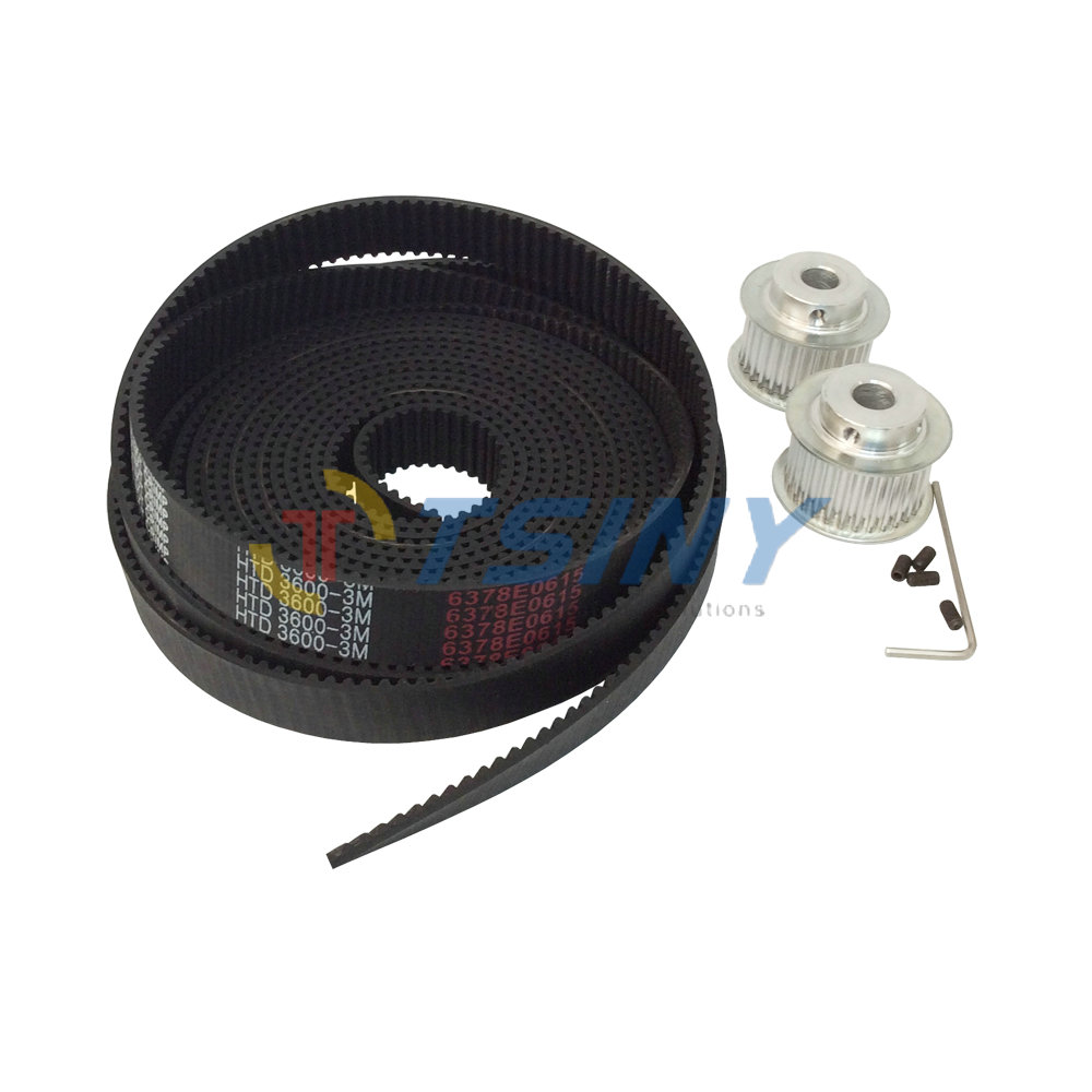 3D Printer Accessories HTD 3M Rubber Timing Belt Open Ended 3Meters +2pcs 28 Teeth Timing Pulley Bore 6mm 8mm 12mm Pitch 3mm 10meters htd 3m open ended timing belt width 15mm 10pcs 24 teeth bore 12mm 3m timing pulley for laser engraving cnc machines