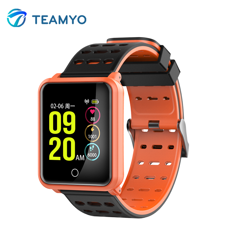 Teamyo Smart Watch Men Heart Rate Monitor Fitness Tracker Watches Blood Pressure Oxygen IP68 Waterproof Color Screen Bracelet