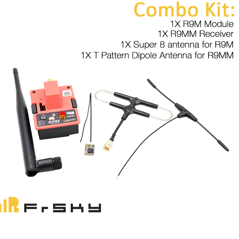 FrSky Long Range System R9M and R9 MM Receiver Combo Set w/ Super 8 antenna and T Pattern Dipole antenna цена 2017