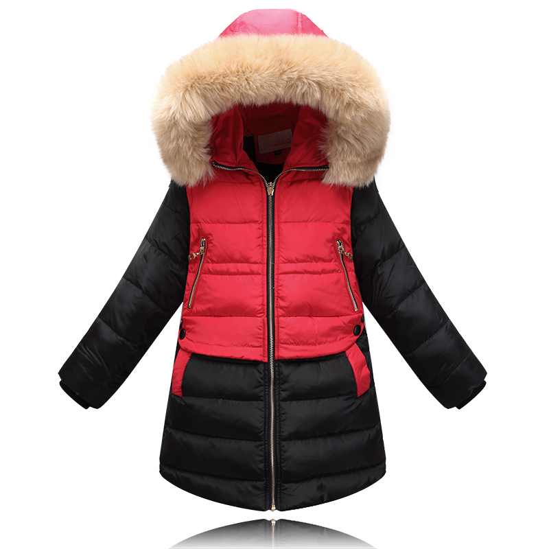 New 2015 Winter Children Down & Parkas Outdoor Girls Outerwear & Coats Fashion Warm Down Coat Beautiful Jacket For Female Child