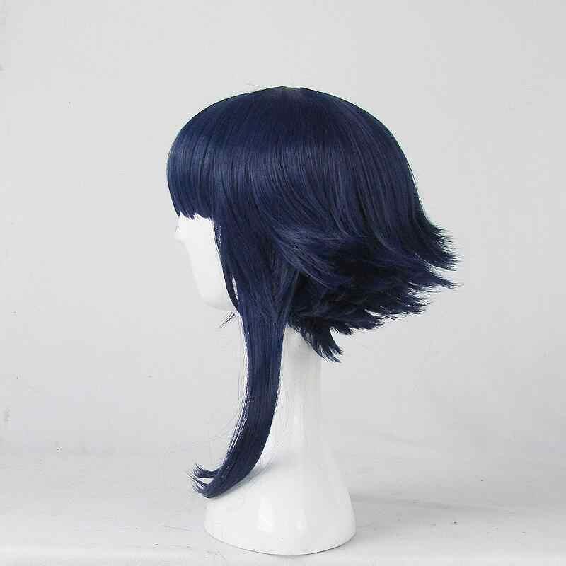 Хайуга Хината детство косплей парик Наруто Хэллоуин ролевые игры темно-синие синтетические волосы