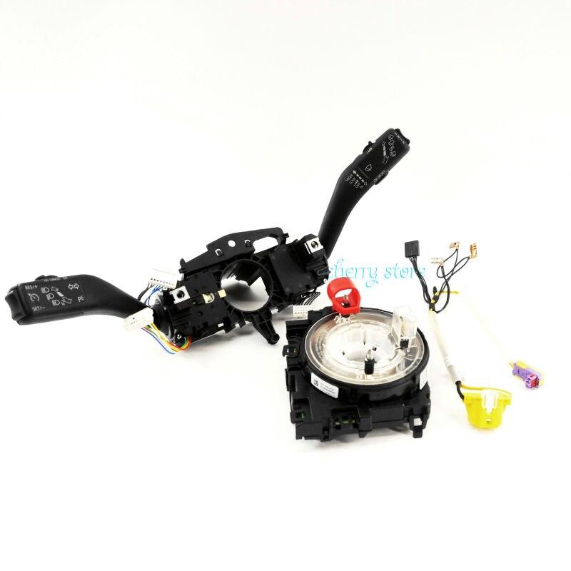 NEW 5K0 953 513 S Cruise MFD Combination Control Stalk Switch & Steering Wheel Module & Harness For VW Jetta Golf GTI MK6 Eos new 5k0 953 549 b mf multi function steering wheel module control unit for vw volkswagen golf mk6 jetta mk6 octavia 5k0953549