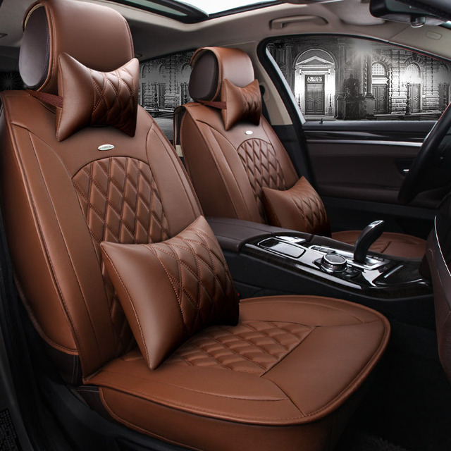 GEEAOK High grade Leather car seat cover for Volkswagen vw passat polo golf tiguan jetta bmw auto car accessorie car styling
