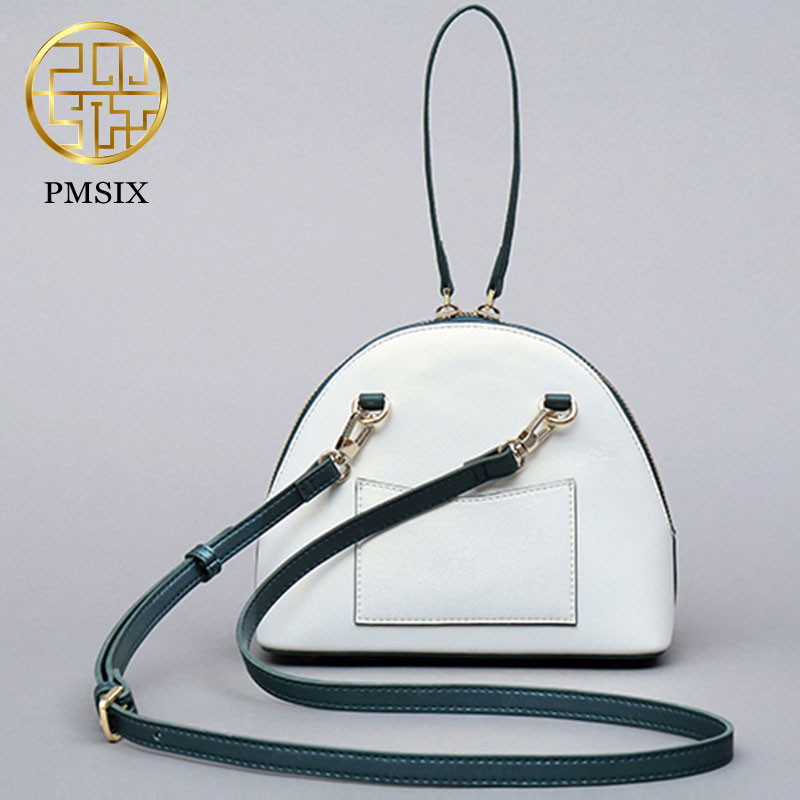 PMSIX 2019 High Quality realer Leather Women Messenger Bag Famous Brand Luxury handbags Kingfisher Printing ladies'Crossbody Bag-in Bandoulière Sacs from Baggages et sacs    3